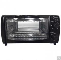 美的(Midea)T1-108B 电烤箱(10L迷你型 机械版 上下管加热 70-230度温控 易清洁内胆 可拆卸底盘)