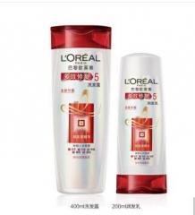 欧莱雅(LOREAL)女士 多效洗发露 润发乳 多效修复洗发露400ML+润发乳200ML